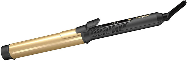 BaByliss Hair Curling Iron 3 Temperature LED, 32mm ,Gold -BABC432SDE