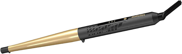 BaByliss BABC435SDE Hair Curling Iron Conic Gold 3 Temperature LED, Gold - Jashanmal Home