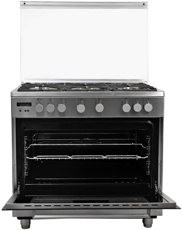 Electrolux ELUX 90X60 5GB GAS OVEN F.SAFETY CAST IRON  GRIDS S.STEEL-EKG941AAOX