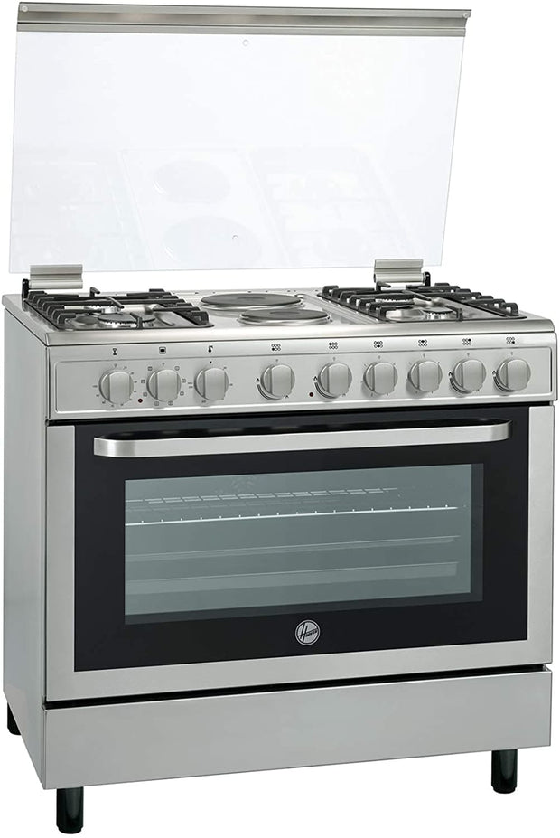 HOOVER 90 X 60 4 GB 2 HOT PLATE COOKER WITH FULL SAFETYSS-FGC9042-3DEX - Jashanmal Home