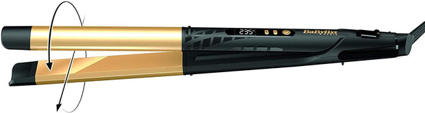 BaByliss ST440SDE,Gold Ceramic 25mm Straightener 3 Temperatures, GOLD,