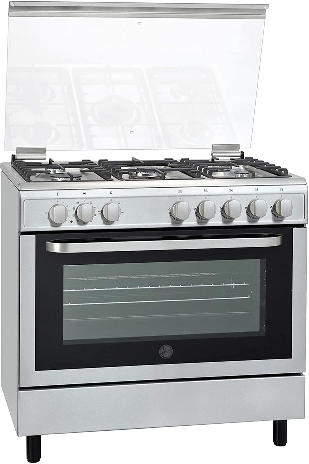 Hoover 90x60 FULL GAS COOKER, Steel - FGC9060-3D (Made In TURKEY)