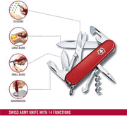 Victorinox Swiss Army Climber Medium Pocket Knife - Red - 1.3703