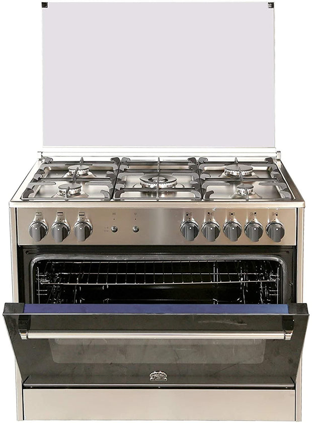 Bertazzoni 90x60 Full Gas Cooker, Steel - AMS95C31CX (Made In ITALY)
