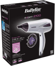 BaByliss Expert Hair Dryer White & Purple-D321WSDE - Jashanmal Home