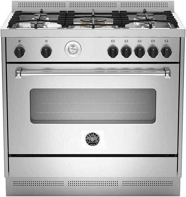 Bertazzoni 90x60 Gas Cooker, Electric Oven, Steel - MAS905MFELXE (Made In ITALY)