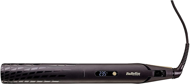 BaByliss BABST430SDE Hair Straightener 3 Temperature LCD, 35mm - Gold - Jashanmal Home