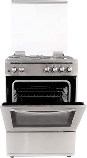 HOOVER 3+1 (WOK) G B 60X60 WITH GAS OVEN & FS STEEL (33000100)-FGC66.02S - Jashanmal Home