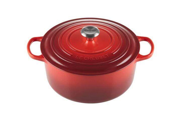 LE CREUSET ROUND FRENCH OVEN 28CM CHERRY RED - 21177280602430