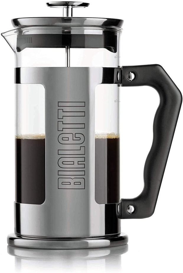 Bialetti Coffee Press Signature Press Coffee Maker - Clear, Black and Silver, 350 ml - 0003180/NW
