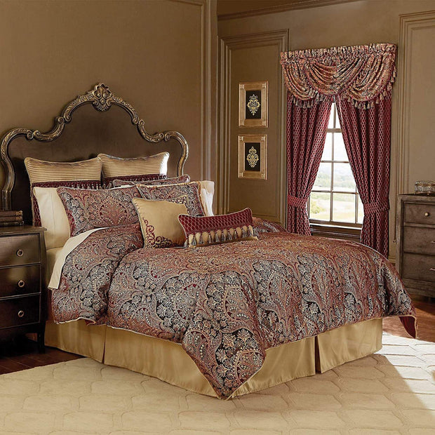 ROENA 8PC BEDDING SET KING BURGUNDY