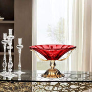 ROMA CENTERPIECE BOWL RED GLASS 40 X 23 CM - DC6155/OR-RS