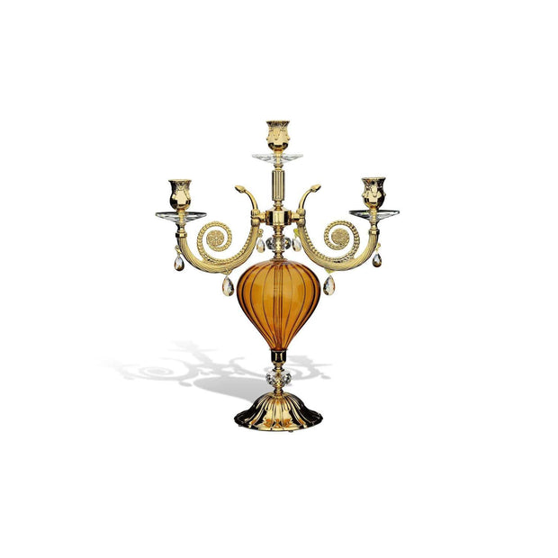 ROMANTICA 3 FLAMES CANDLESTAND AMBER - DC2441