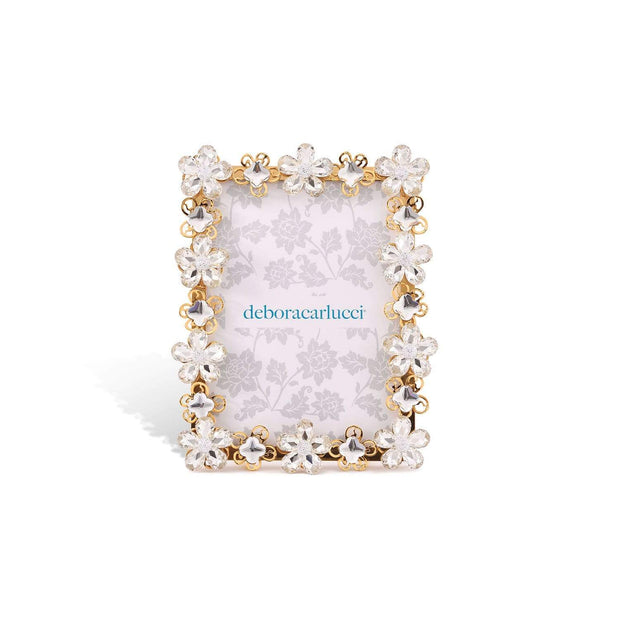 DUBAI PICTURE FRAME GOLD METAL AND CRYSTAL 15x8x15CM - DC6173/OR