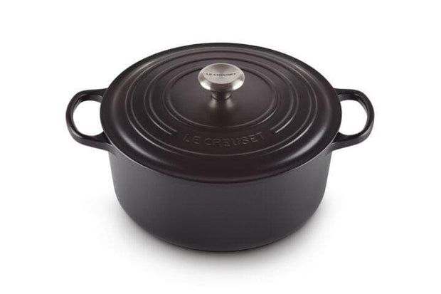 LE CREUSET ROUND FRENCH OVEN 22CM SATIN BLACK - 21177220000430