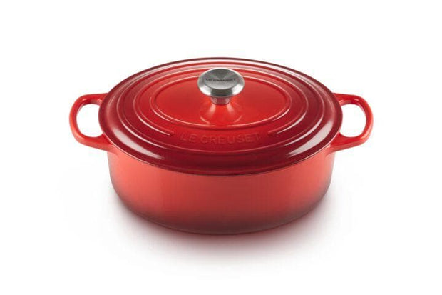 LE CREUSET OVAL FRENCH OVEN 27CM CHERRY RED - 21178270602430