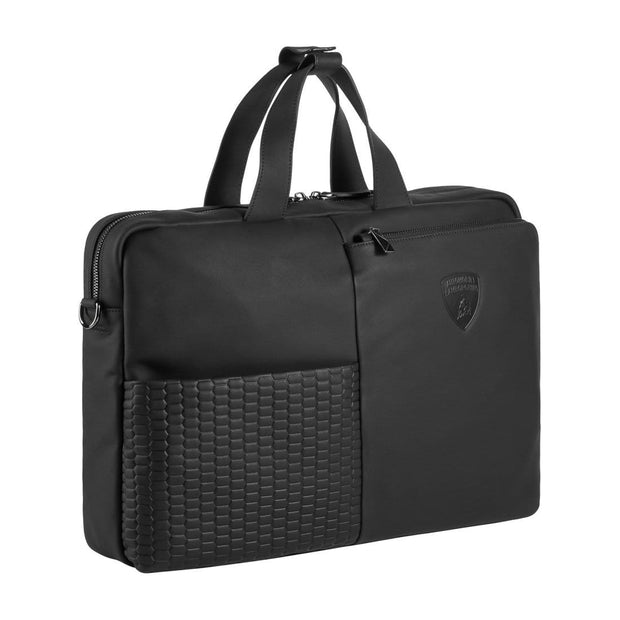 LAMBORGHINI BRIEFCASE ENGINE 9013428 BLACK - Jashanmal Home