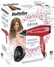 BaByliss Professional AC Dryer Red - BAB6604RPSDE