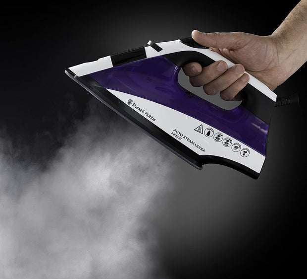 Russell Hobbs Auto Steam Purple Iron - 22523 - Jashanmal Home