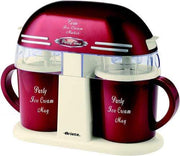 ARIETE PARTY TIME TWIN ICE CREAM MAKER RED 0631