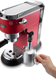 De'Longhi Dedica Style Pump Espresso Machine Red, EC685.R+KG79 (Bundle) - Jashanmal Home