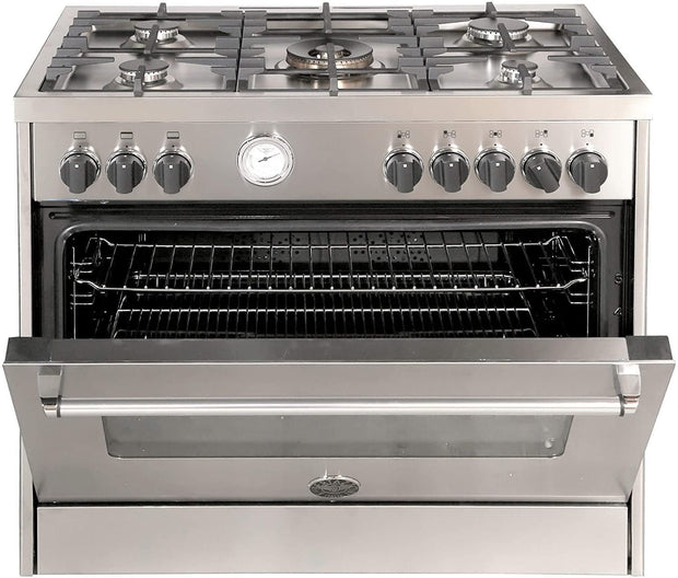 Bertazzoni 90x60 Full Gas Cooker, Steel - MAS905GGVLXE (Made In ITALY)