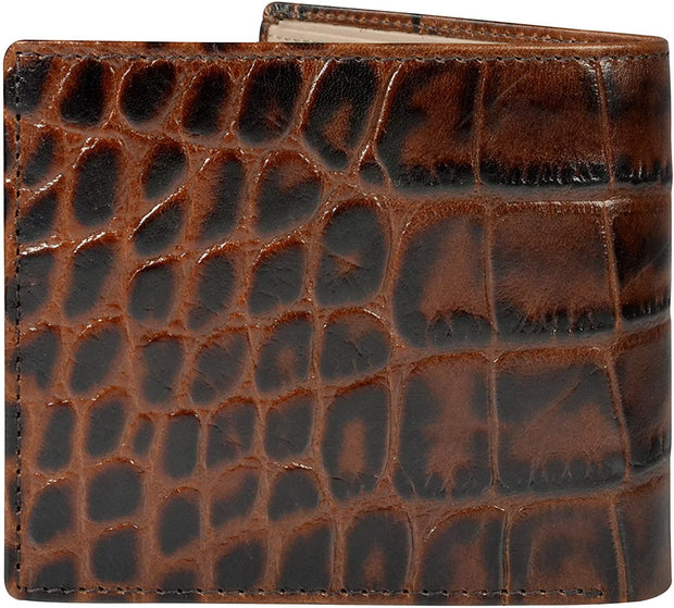 Cross Coco Signature Bifold Coin Leather Wallet for Men - Black and Red - AC268072-1-2