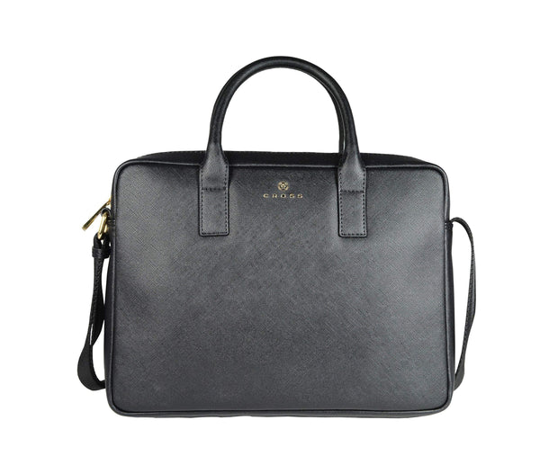 CROSS FIRST CLASS VALUE MEN 14 INCH SLIM BRIEFCASE BLACK BAG - AC791340-2-1