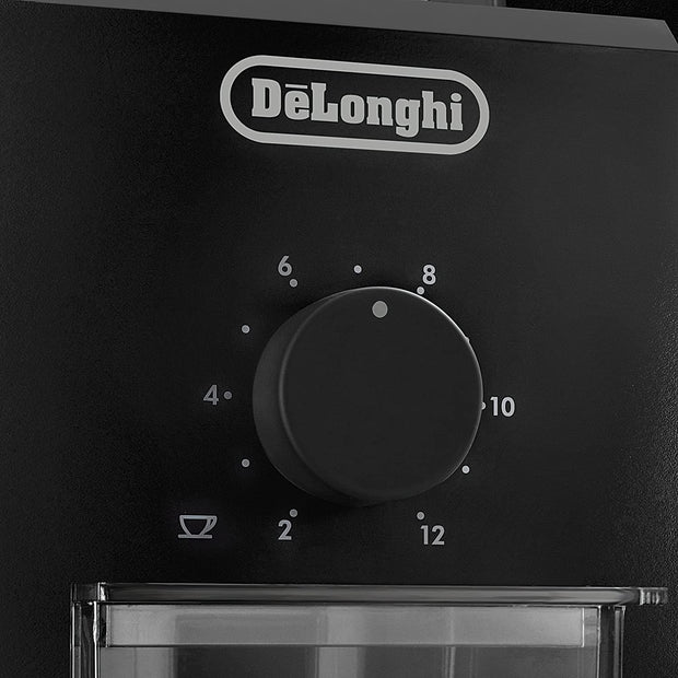 De'Longhi Electric 12 Cup Burr Grinder Black KG79 - Jashanmal Home