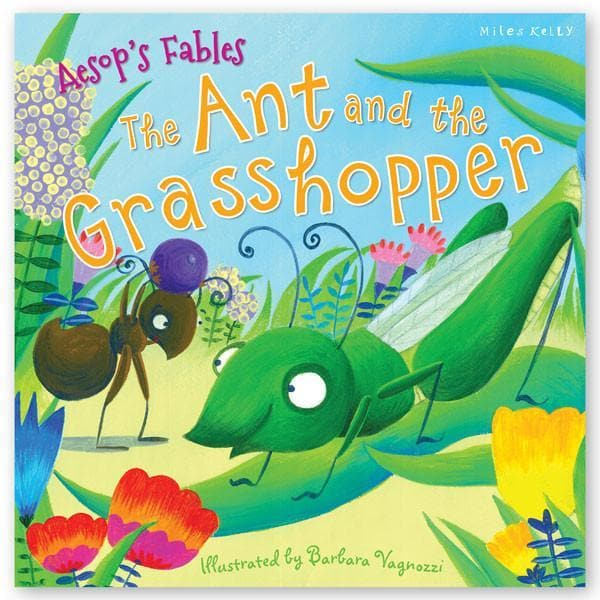 Books  AESOP ANT AND THE GRASSHO-MILES KELLY
