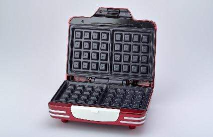 ARIETE PARTY TIME WAFFLE MAKER, RED 0187