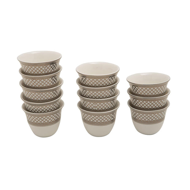 BANBERRY PORCELAIN 12PC CAWA CUPS BC GOLD - JA001