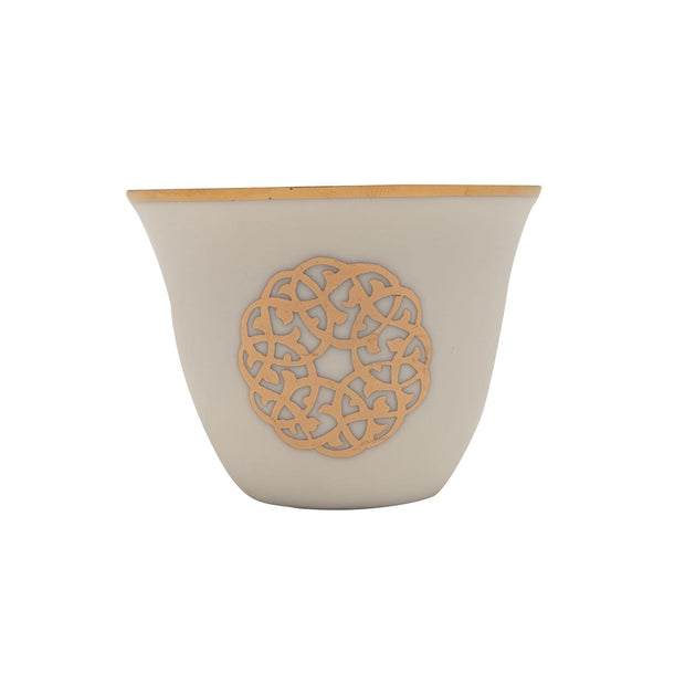GOLD LINE 12PC ARABIC CAWA CUPS - SY116-G