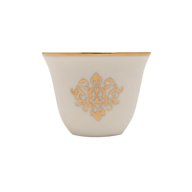 GOLD LINE 12PC ARABIC CAWA CUPS - SY116-G - SY121-G