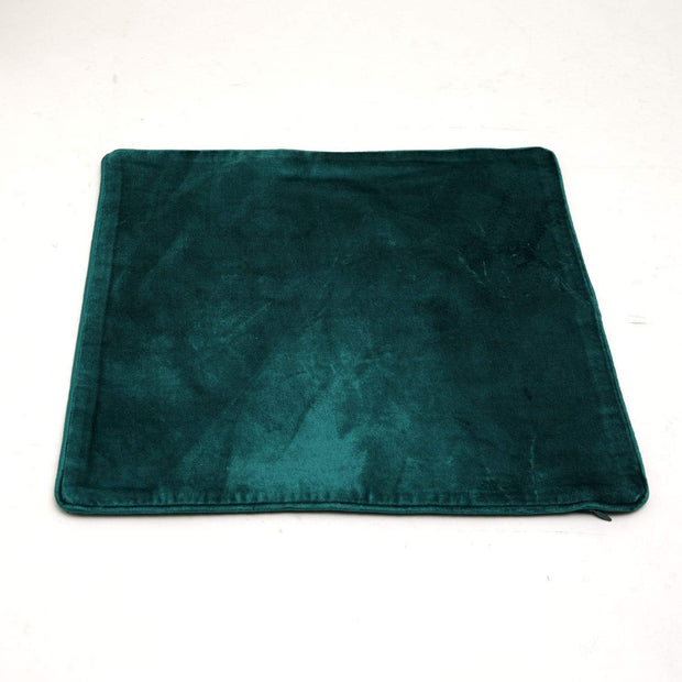 CREATIVE DIVA SOLID COTTON VISCOSE CUSHION COVER TEAL 40X40 - SCV-3-CC/40
