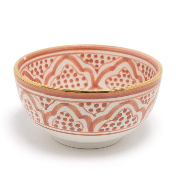 Chabichic Ceramic Zwak Bowl - Dark Orange and White, Large - CCV.05.06ORFG - Jashanmal Home