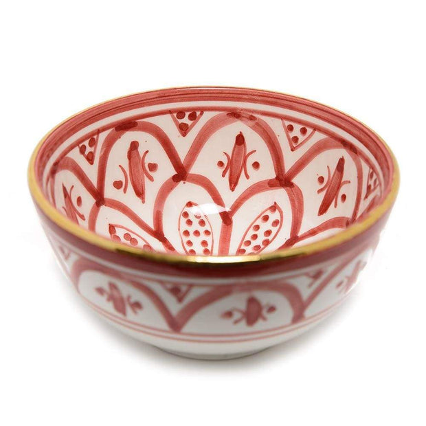 Chabichic Ceramic Zwak Bowl - Burgundy and White, Large - CCV.05.06ZBXG - Jashanmal Home