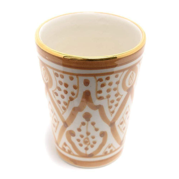 Chabichic Ceramic Zwak Glass - Gold and White - CCV.05.01ZNG - Jashanmal Home