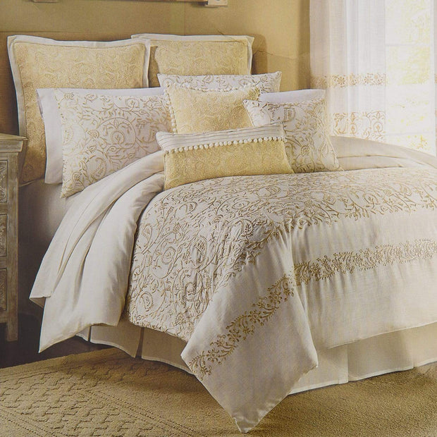Croscill Cela King Bedding Set - Ivory, 8 Pieces - 2A0-804O0-4782/110 - Jashanmal Home