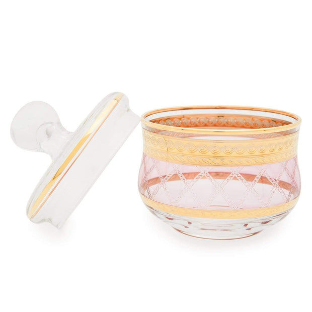 Combi Kolleen Sugar Bowl - Gold and Pink - G761Z/NR3 - Jashanmal Home