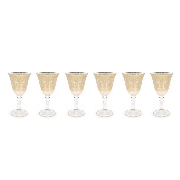 Combi Annette Goblet Set - Amber, 190 ml, Small, 6 Piece - G789/1Z-AM/97 - Jashanmal Home
