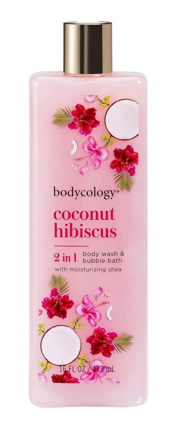 BODYCOLOGY Coconut hibiscus Moisturizing Body Wash Shower gel 473 ml1034094PK