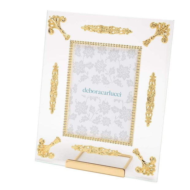 Debora Carlucci Glass Photo Frame with Metal Frame - Gold and Clear - DC5557/OR - Jashanmal Home