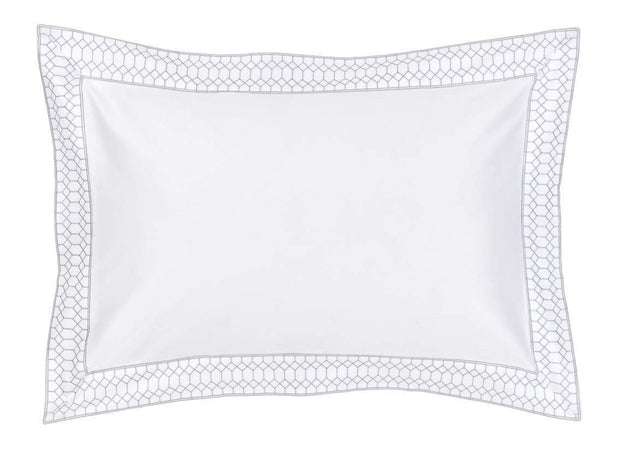 Christy Deco Oxford Pillowcase Platinum-41086787