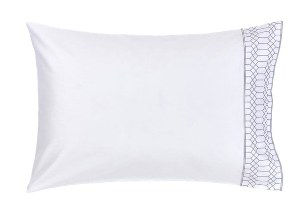 Christy Deco Standard pillowcase pair Navy-41086404