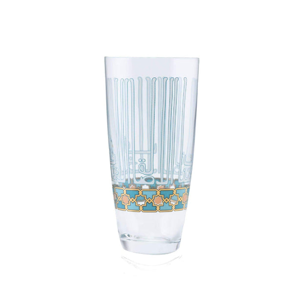 Dimlaj Asala Highball Tumbler Set - Clear, Gold and Green, 6 Pieces - 46701 - Jashanmal Home