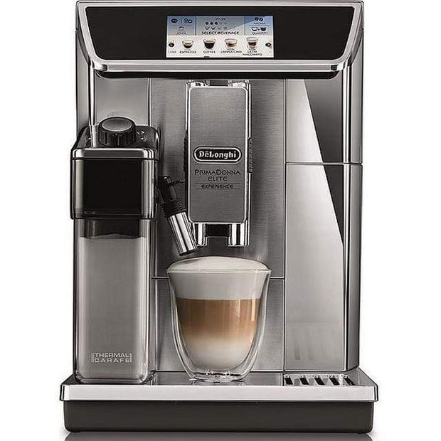 De'Longhi PrimaDonna Elite Fully Automatic Coffee Machine, Silver - ECAM650.85.MS (Made In ITALY)