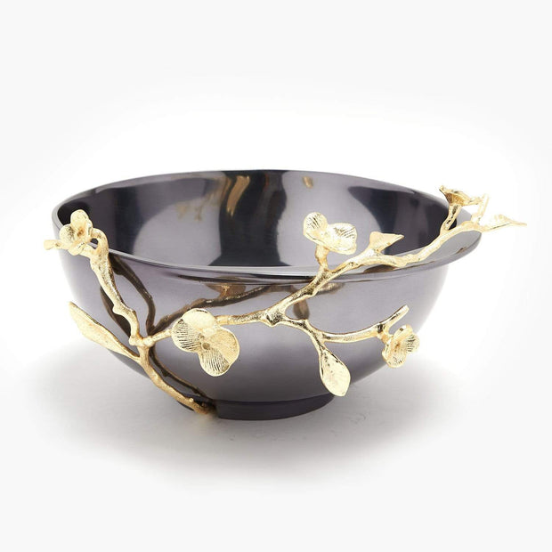 ALEXANDER MILLIE BOWL LARGE GOLD FINISHED BRASS & BLACK NICKEL PLATED ALUMINUM - 617038