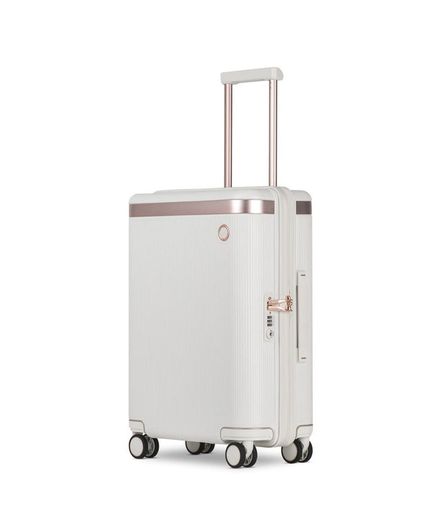 Echolac Dynasty Trolley Bag - Ivory White, 20 inch - PC142 IVORY WHITE 20 - Jashanmal Home