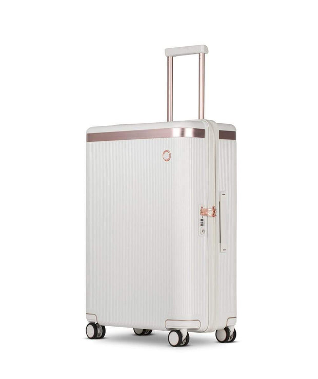 Echolac Dynasty Trolley Bag - Ivory White, 24 inch - PC142 IVORY WHITE 24 - Jashanmal Home